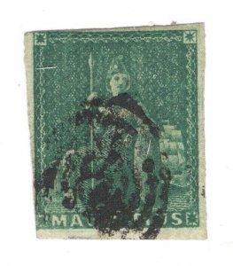 Mauritius #9 Used CV. $225 (JH 10/31/2020) GP