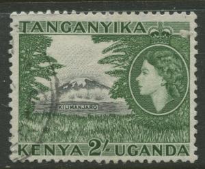 Kenya & Uganda - Scott 114 - QEII Definitive -1954 - Used - Single 2/- Stamp