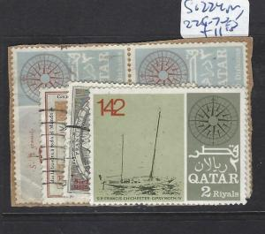 QATAR  (PP1110B)  SG  224 PR, 225-7   VFU