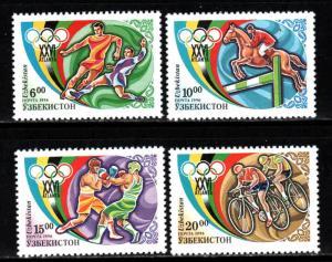 Uzbekistan # 114-17 ~ Cplt Set of Four
