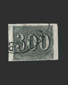 VINTAGE: BRAZIL 1850 USED,BH SCT # 27 $ 72.50 LT # BR1850B9