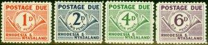 Rhodesia & Nyasaland 1961 Postage Due Set of 4 SGD1-D4 V.F MNH
