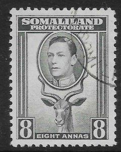 SOMALILAND SG99 1938 8a GREY USED