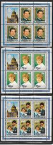 Niue #B52-B54  Mini Sheets  (MNH) CV $18.75