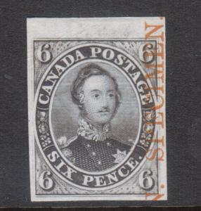 Canada #2TCxiii Extra Fine Plate Proof On India Paper With Specimen Overprint