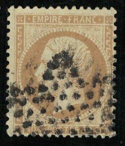 Emperor Napoléon III, 10 cents, France, 1862-1871 Perforated, MC #20 (4323-Т)