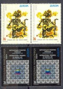 Macedonia Sc# 264-265 MNH Pair 2003 Europa