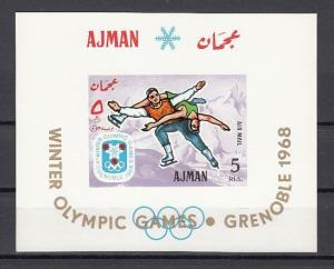Ajman, Mi cat. 207, BL18. Winter Olympics s/sheet.