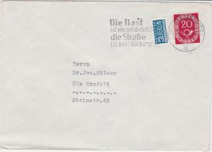 German 1953 Braunschweig Cancel Obligatory Tax Aid for Berlin Stamps Cover 26810