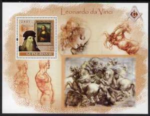 Guinea - Bissau 2007 Leonardo Da Vinci perf souvenir shee...