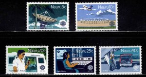 NAURU Scott 268-272  MNH**  communications set  1983