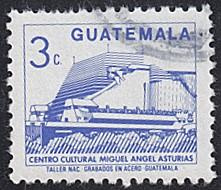 Guatemala # 447 used ~ 3¢ Cultural Center Building