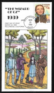 United States 2445 Wizard of Oz Collins First Day Cover FDC (z8)