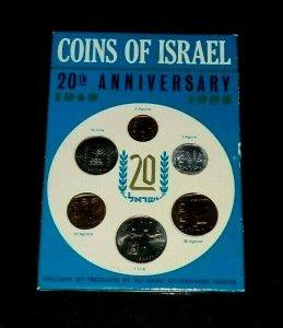ISRAEL, 1948-1968, COINS OF ISRAEL, SEALED SPECIMEN SET, MNH, NICE! LOOK!