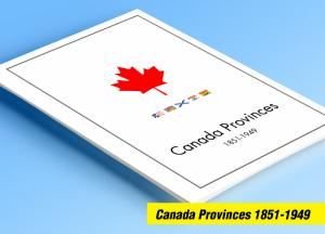 COLOR PRINTED CANADA PROVINCES 1851-1949 STAMP ALBUM PAGES (25 illustr. pages)