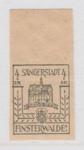 Finsterwalde WWII Germany World War II Local Stamp 1946 4+3pf MNH** A20P4F173