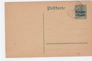 Germany occupation Belgium 1914  prepaid stamped post card  R20358