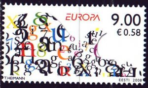 Estonia. 2008. 615. Letters of the alphabet, Europe. MNH.