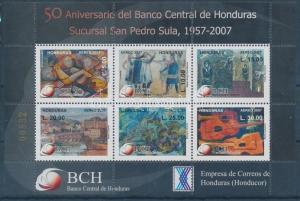 Honduras stamp 50th anniversary of the Central Bank MNH 2007 Mi 90 WS142099