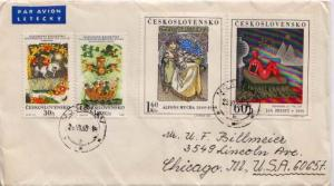 Czechoslovakia, Airmail, Art