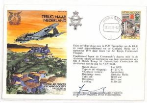 AH178 1979 Netherlands Gorssel RAF Escaping Society Signed Cover PTS