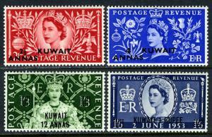 Kuwait 113-116, Postfrisch Krönung. Queen Elizabeth Qe Ii. Regalia, Blumen, 1953
