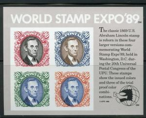 US SCOTT# 2433 WORLD STAMP EXPO SOUVENIR SHEET MINT NEVER HINGED AS SHOWN