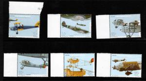 Portugal Scott 2302-2307 MNH** military airplane set