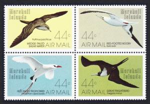 Marshall Is. Shearwater Booby Tropic Bird Frigate Birds 4v SG#103-106