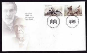 Canada-Sc#1954-5-stamps on FDC-2002-Sculptors-
