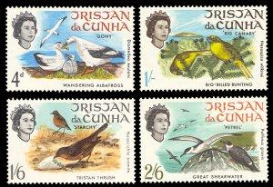 Tristan da Cunha 1968 Scott #116-119 Mint Never Hinged