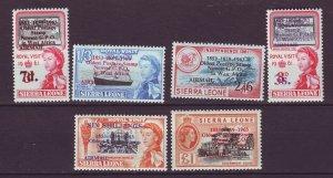 J24465 JLstamps 1963 sierra leone set mnh #c8-13 ovpt,s