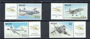 BELIZE - 2003 CENTENARY OF POWERED FLIGHT - SCOTT 1164 TO 1167 - MNH