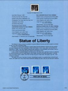 US SP1389 Statue of Liberty 3476,3477,3485 Souvenir Page FDC