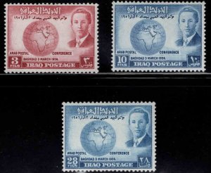 IRAQ Scott 164-166 MH* Arab Postal Conference stamp set