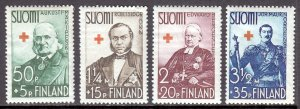 Finland - Scott #B27-B30 - MH - Sm. thin #B28, gum wrinkling, pencil - SCV $9.80