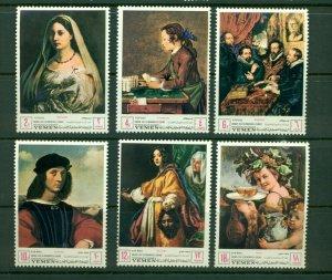 Yemen (Kingdom) Michel #503-08 (1968 UNESCO Florence Paintings set) VFMNH CV €12