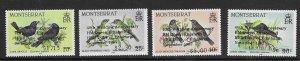 Montserrat 663-66  1987 set 4  VF NH