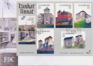 2014 FINLAND  - SG: 2191/96 - OLD CASTLES -  ON FIRST DAY COVER