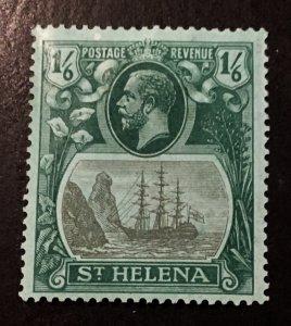 St. Helena Scott 88 KGV Definitive One Schilling Six Pence-Mint