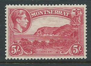 Montserrat SG 110 Mint Very Light Hinge  perf 13