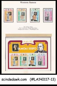 SAMOA - 1979 DEATH CENT OF SIR ROWLAND HILL -  4-STAMPS & 1-M/S - MNH