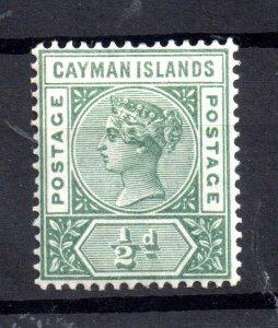Cayman Islands 1900 1/2d green mint LHM SG#1 WS17222