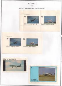 SCOTLAND - STAFFA - 1982 - Jet Aircraft - Perf. Imperf 2v, Souv, D/L Sheets -MLH