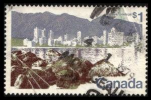 CANADA 1976 $1. SC 599a PERF 13½ x 13½ VANCOUVER USED, SEE SCAN