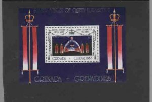 GRENADA-GRENADINES #240  1977 ROYAL VISIT OVERPRINT   MINT  VF NH  O.G  S/S