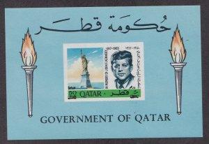 Qatar # 119B, John F. Kennedy Memorial, Revalued, NH, 1/2 Cat.