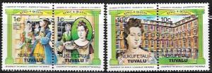 Tuvalu Nukufetau Kings and Queens nice double stamps.