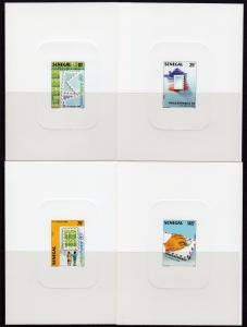 Senegal 1989 Sc#817/820 PHILEXFRANCE '89 Stamps/Map of France 4 DELUXE S/S MNH