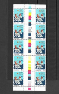Australia - 1981 Int. Year of Disabled Persons - Gutter Block MNH Sc810